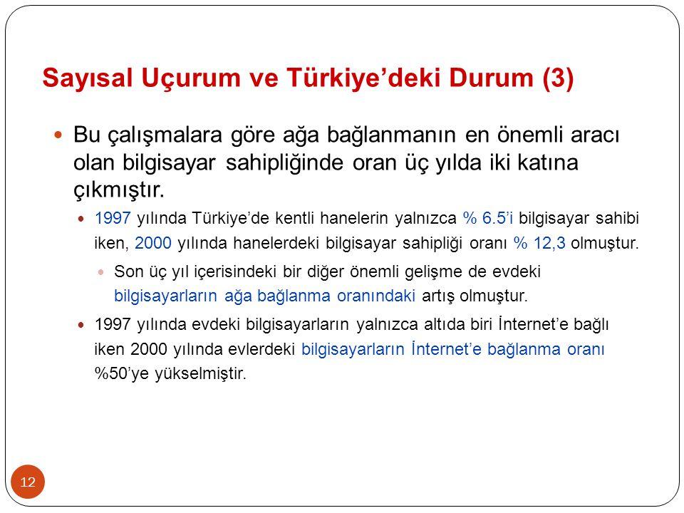 Sayısal Uçurum ve Türkiye'deki Durum (3)