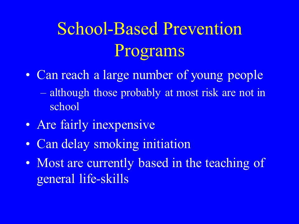 School-Based Prevention Programs
