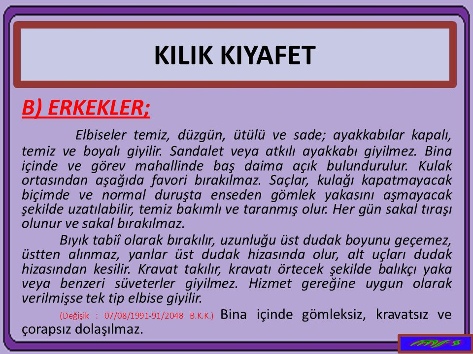 KILIK KIYAFET B) ERKEKLER;