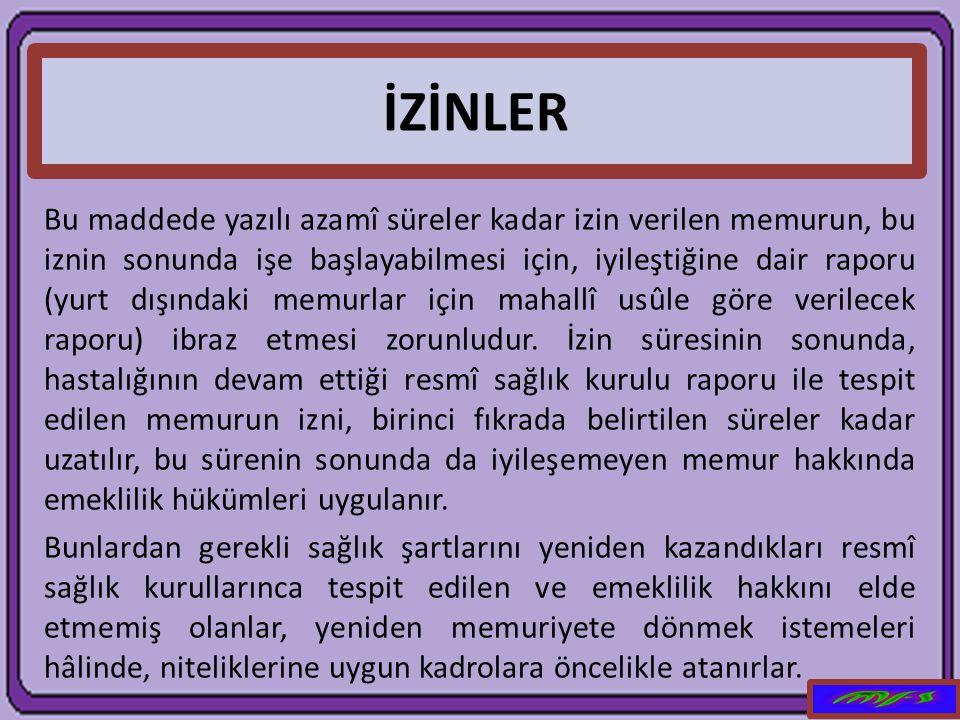 İZİNLER
