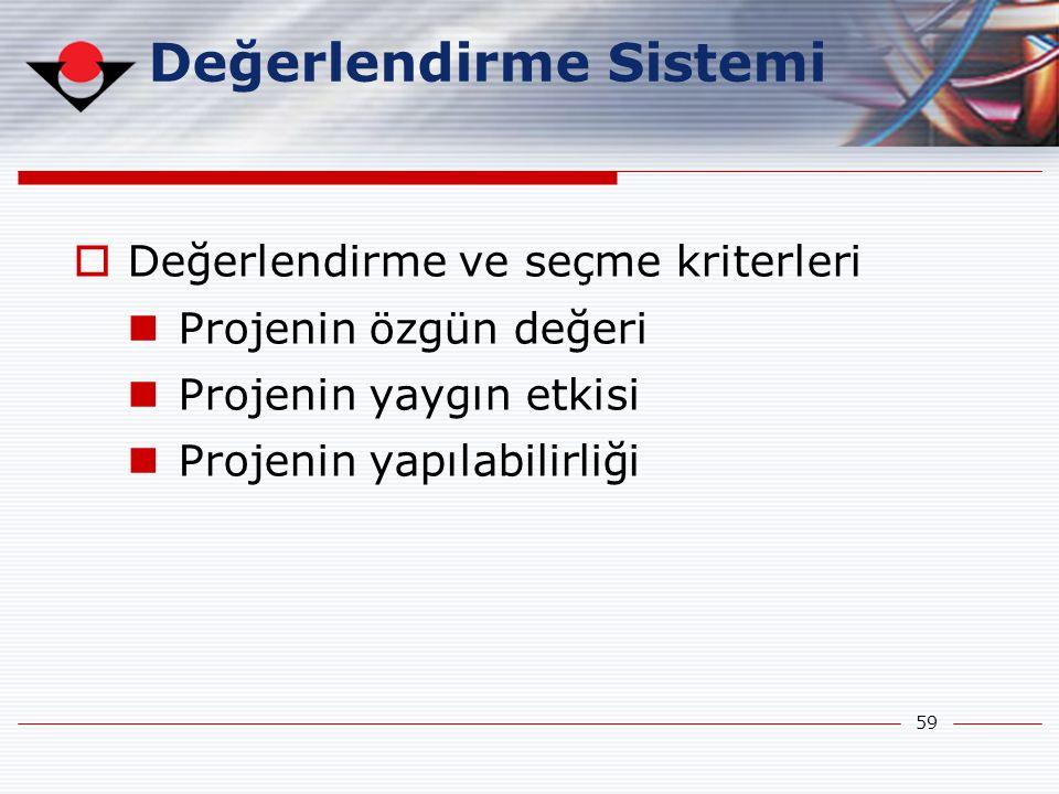 Değerlendirme Sistemi