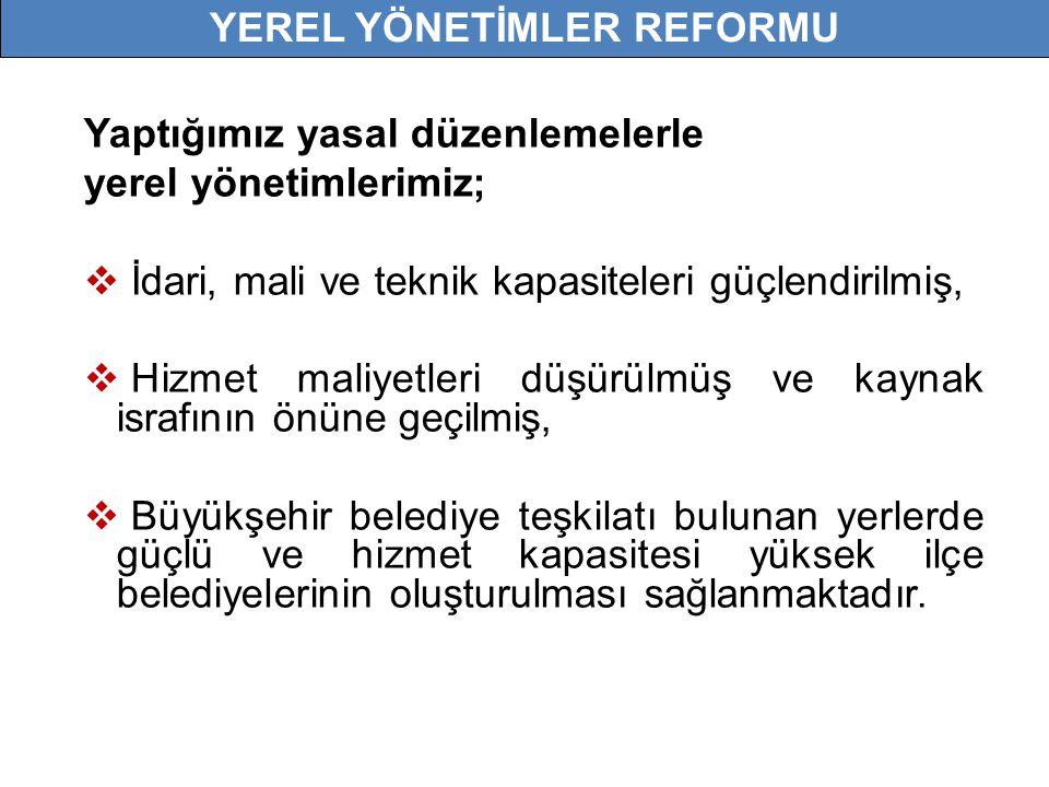 YEREL YÖNETİMLER REFORMU