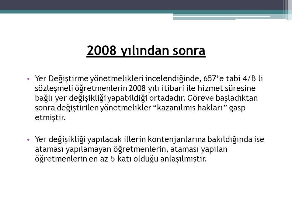 2008 yılından sonra
