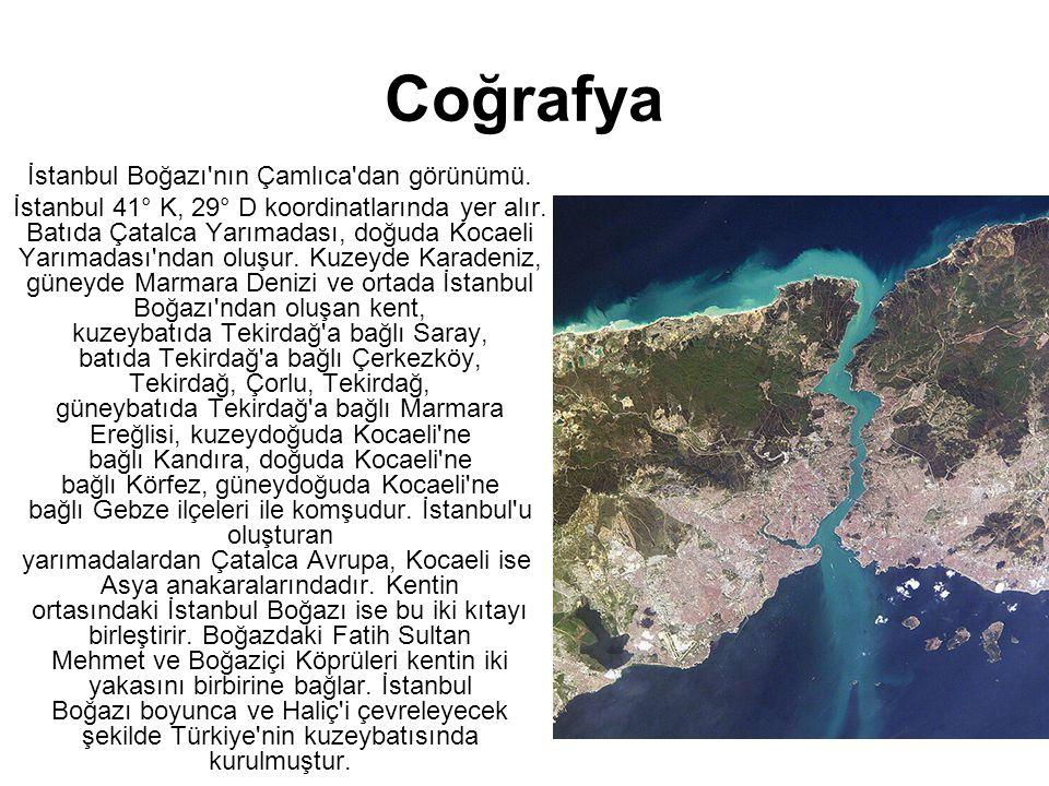 İstanbul Boğazı nın Çamlıca dan görünümü.