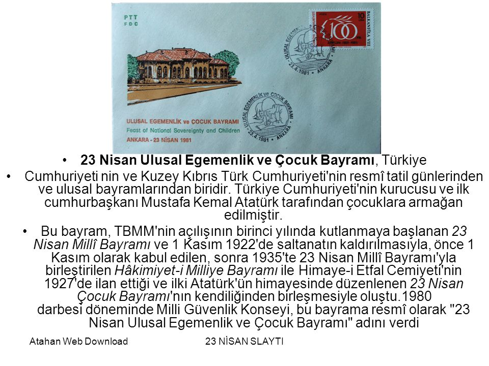23 Nisan Ulusal Egemenlik ve Çocuk Bayramı, Türkiye