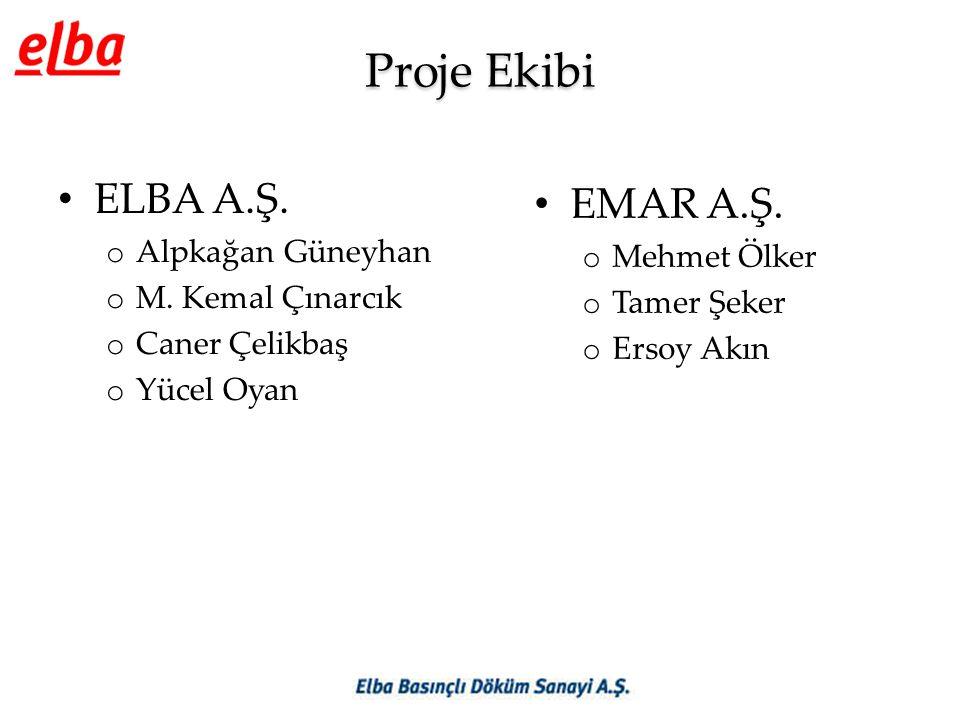 Proje Ekibi ELBA A.Ş. EMAR A.Ş. Alpkağan Güneyhan Mehmet Ölker