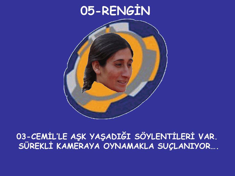 05-RENGİN 03-CEMİL'LE AŞK YAŞADIĞI SÖYLENTİLERİ VAR.