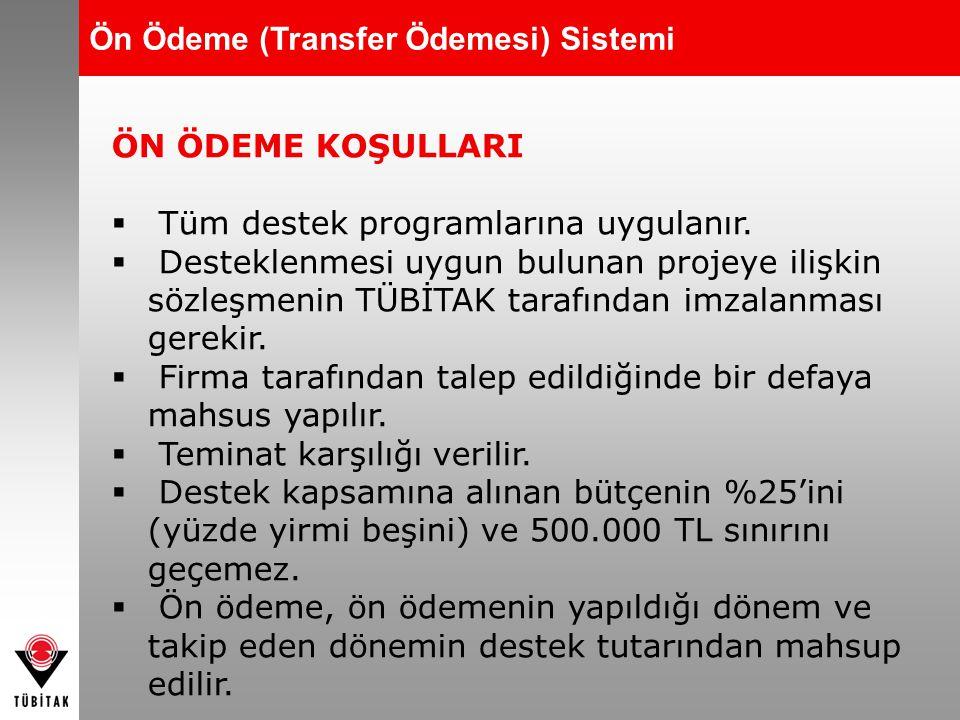 Ön Ödeme (Transfer Ödemesi) Sistemi