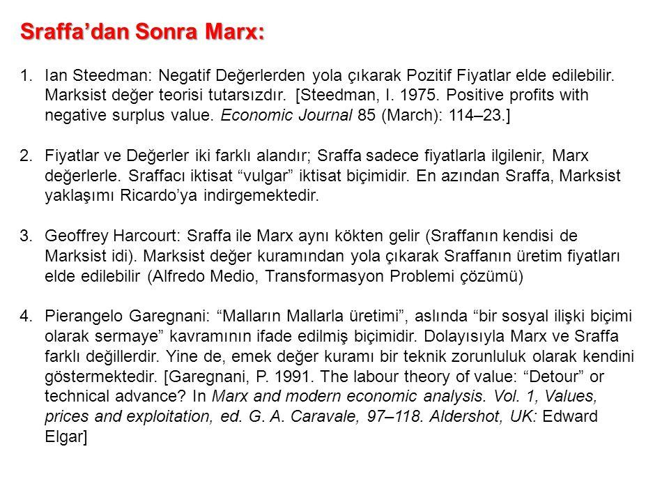 Sraffa'dan Sonra Marx: