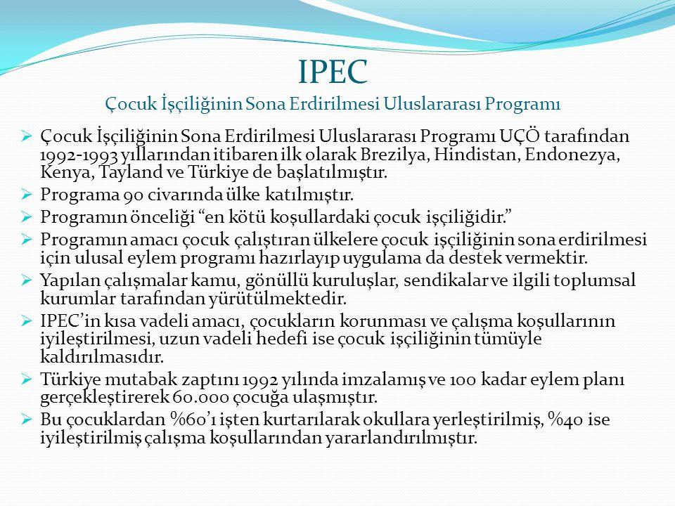 IPEC Çocuk İşçiliğinin Sona Erdirilmesi Uluslararası Programı