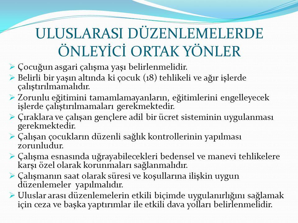ULUSLARASI DÜZENLEMELERDE ÖNLEYİCİ ORTAK YÖNLER