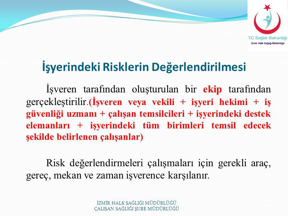 İşyerindeki Risklerin Değerlendirilmesi