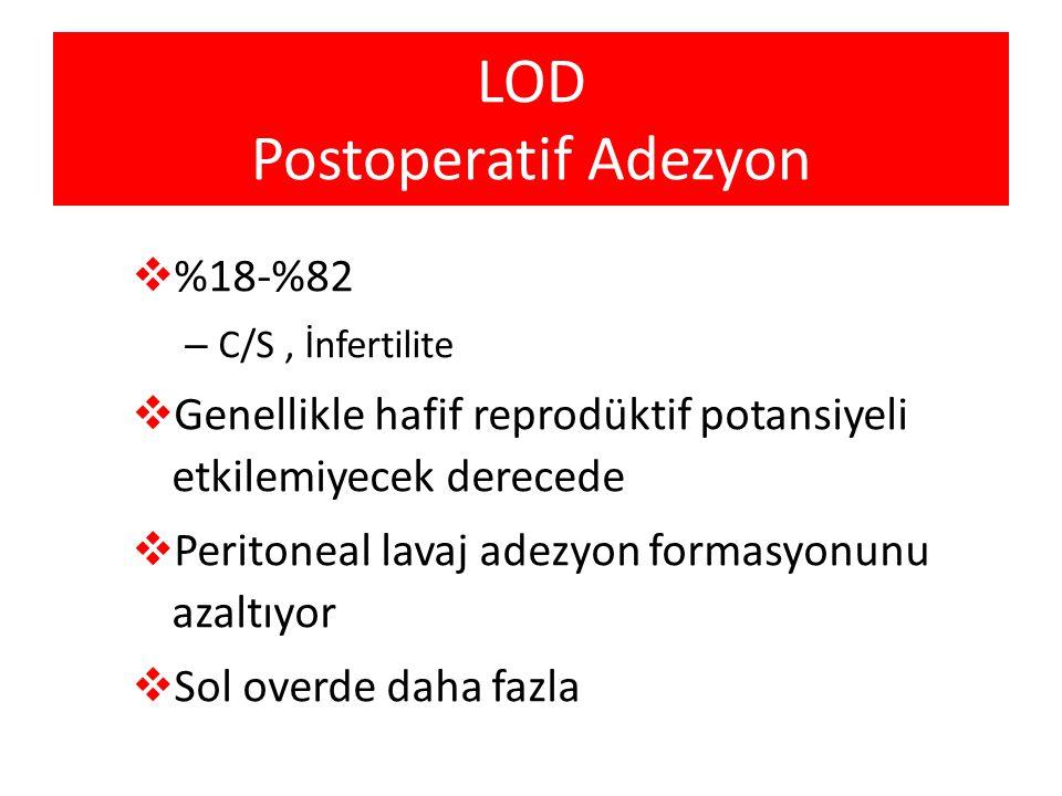 LOD Postoperatif Adezyon