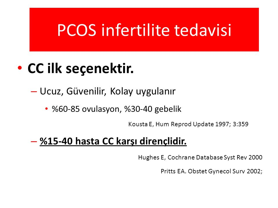 PCOS infertilite tedavisi