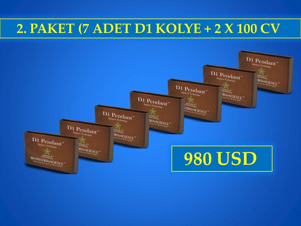 2. PAKET (7 ADET D1 KOLYE + 2 X 100 CV