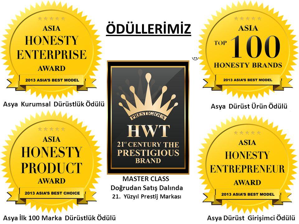 ÖDÜLLERİMİZ Asya Kurumsal Dürüstlük Ödülü Asya Dürüst Ürün Ödülü