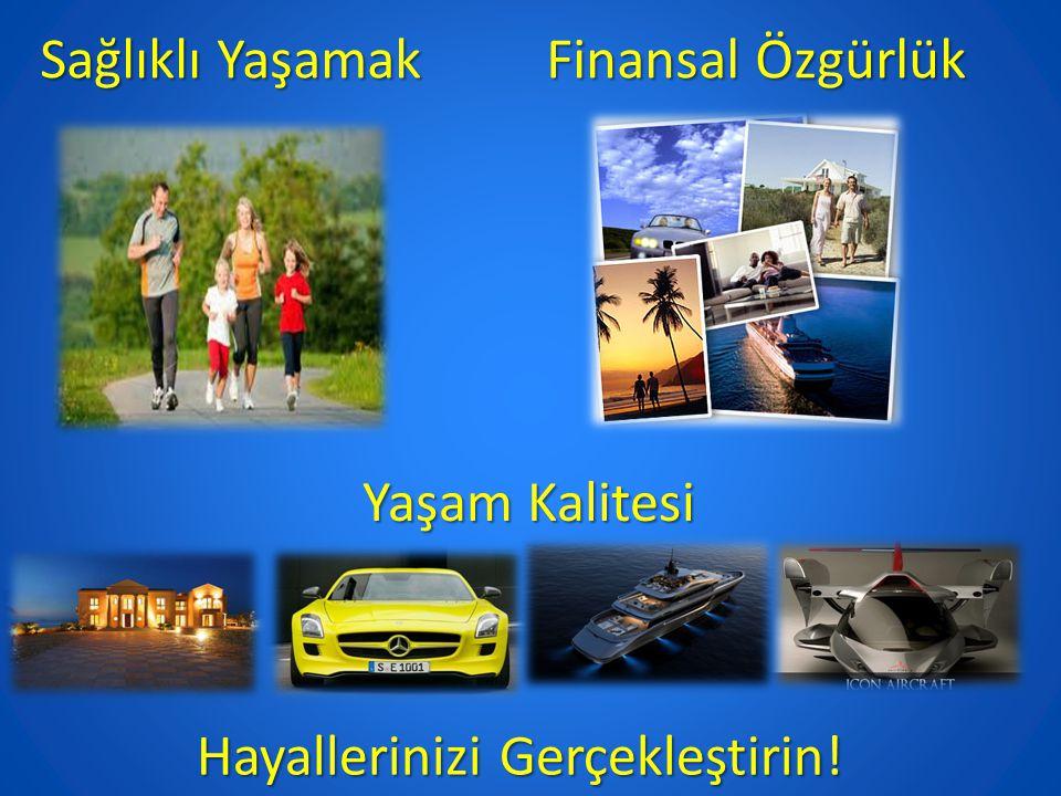 Sağlıklı Yaşamak Finansal Özgürlük Yaşam Kalitesi Hayallerinizi Gerçekleştirin!