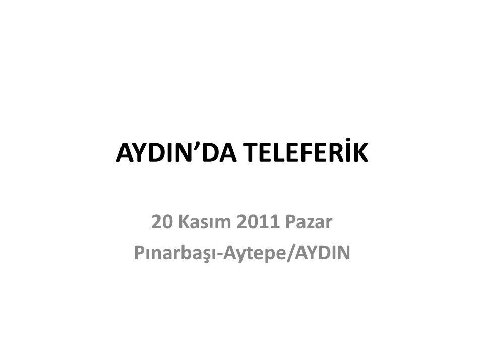 20 Kasım 2011 Pazar Pınarbaşı-Aytepe/AYDIN
