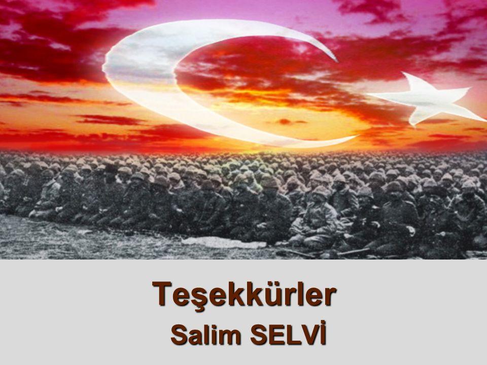 Teşekkürler Salim SELVİ