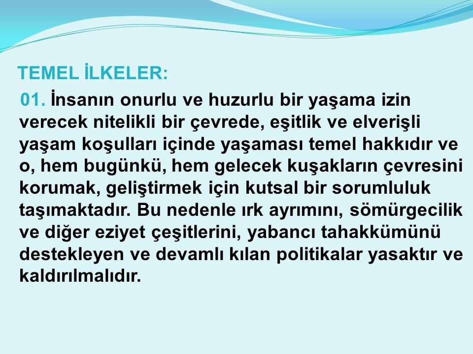 TEMEL İLKELER: