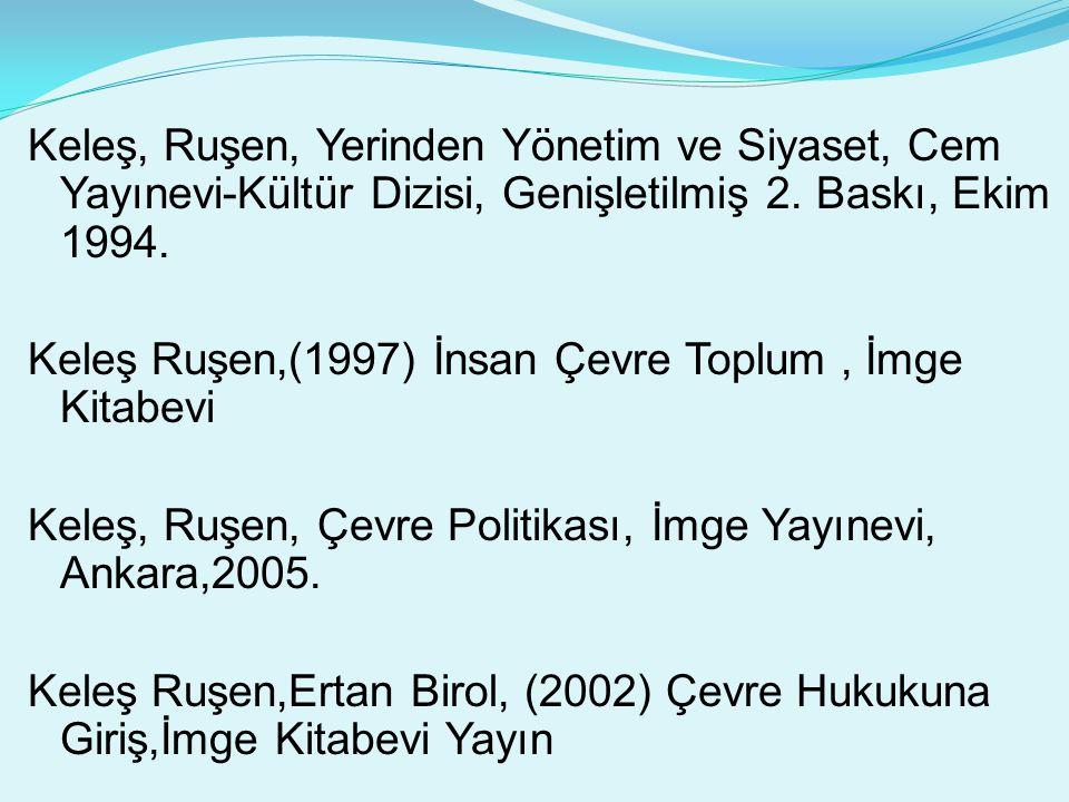 Keleş, Ruşen, Yerinden Yönetim ve Siyaset, Cem Yayınevi-Kültür Dizisi, Genişletilmiş 2.