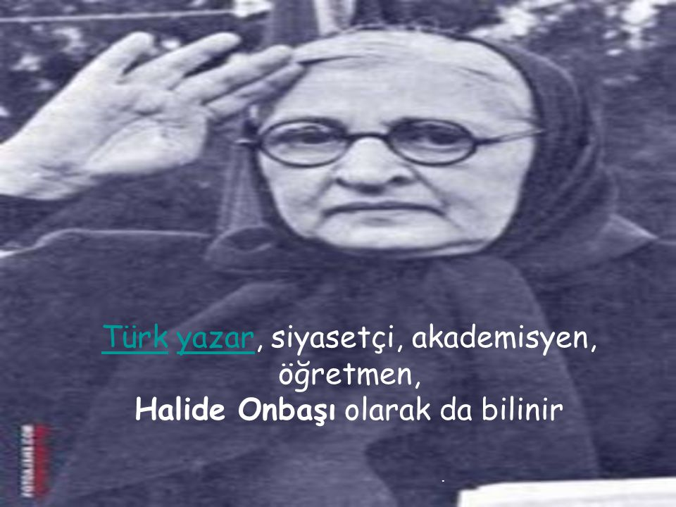 Türk yazar, siyasetçi, akademisyen, öğretmen,