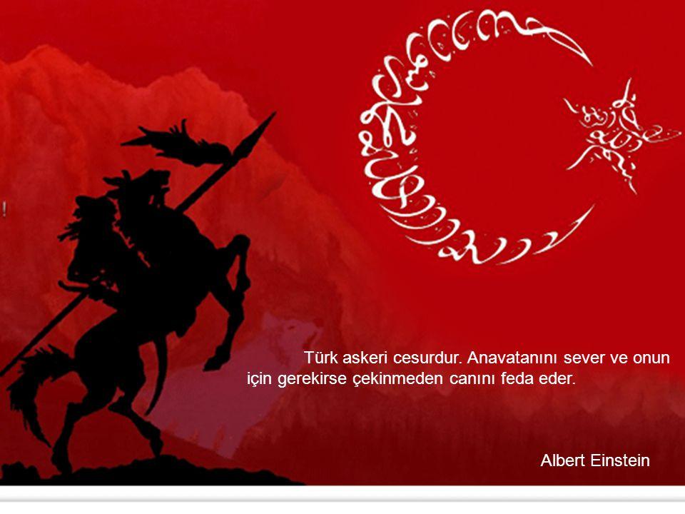 Türk askeri cesurdur. Anavatanını sever ve onun için gerekirse çekinmeden canını feda eder.