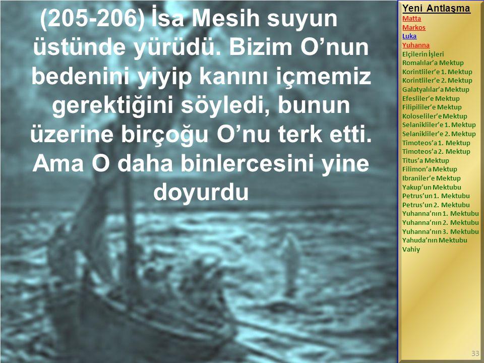 (205-206) İsa Mesih suyun üstünde yürüdü