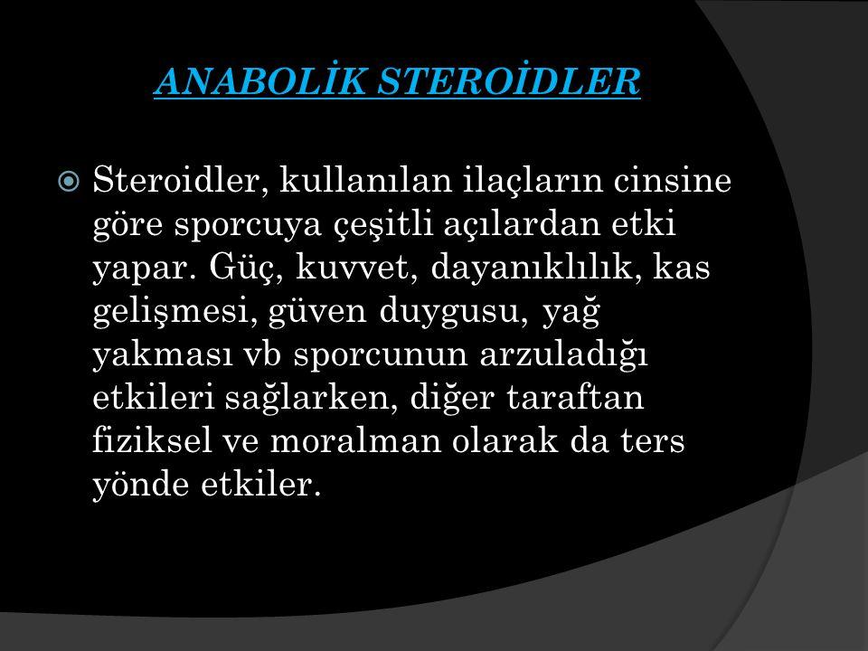 ANABOLİK STEROİDLER