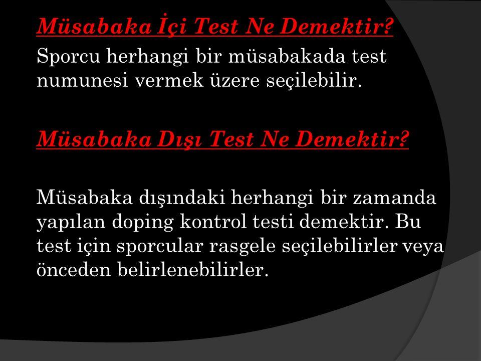 Müsabaka İçi Test Ne Demektir