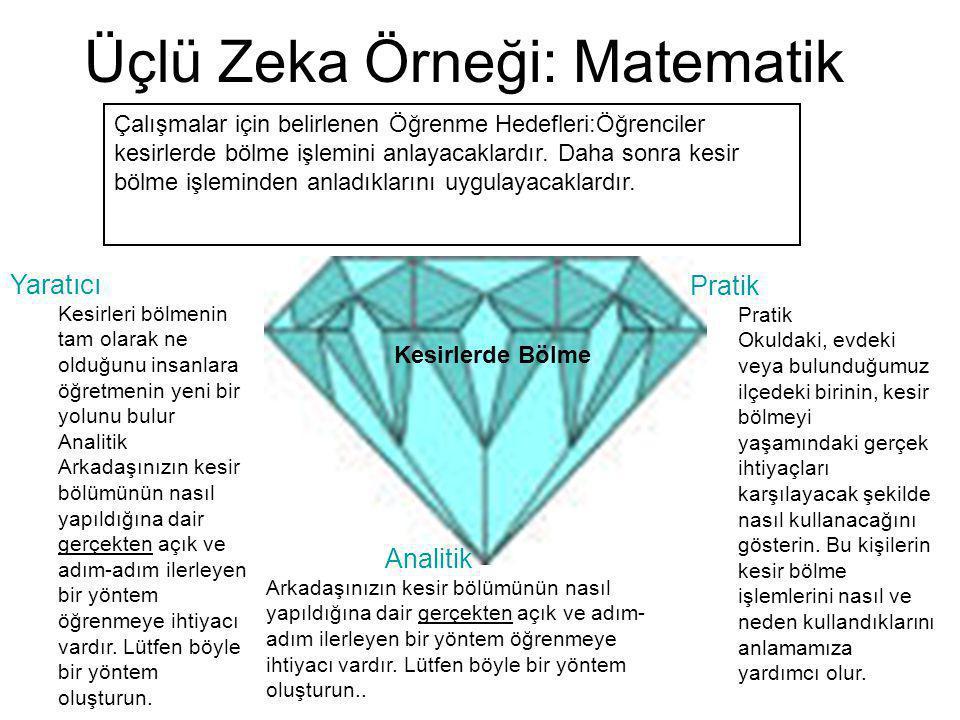Üçlü Zeka Örneği: Matematik