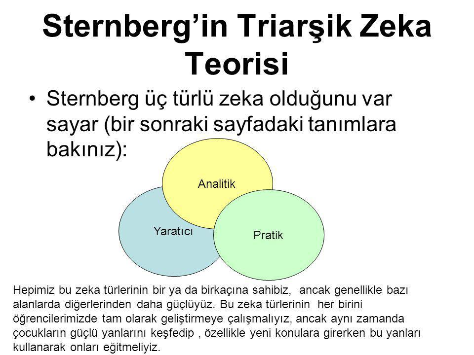 Sternberg'in Triarşik Zeka Teorisi