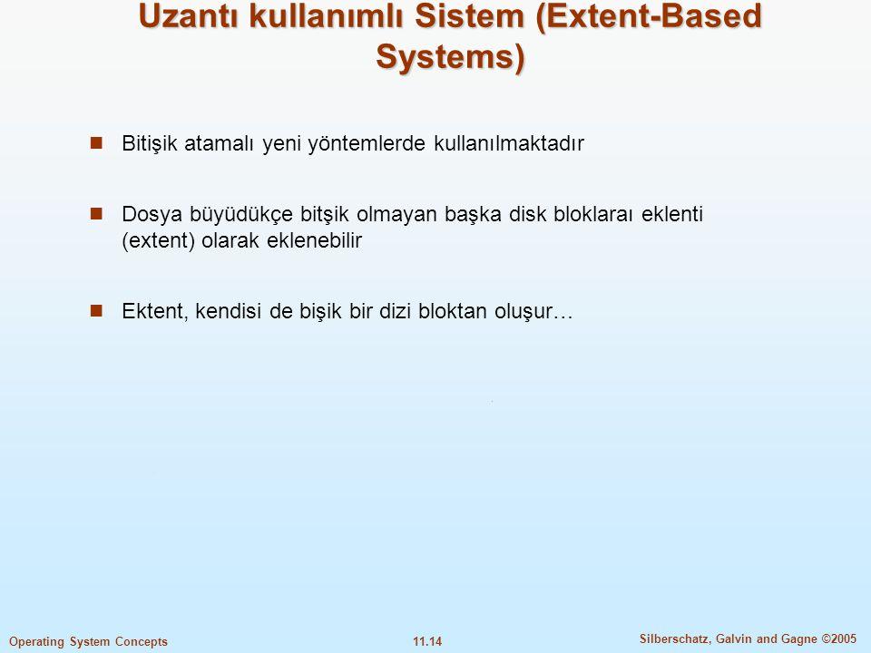 Uzantı kullanımlı Sistem (Extent-Based Systems)