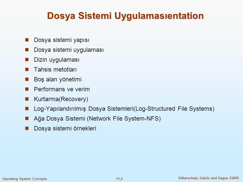 Dosya Sistemi Uygulamasıentation