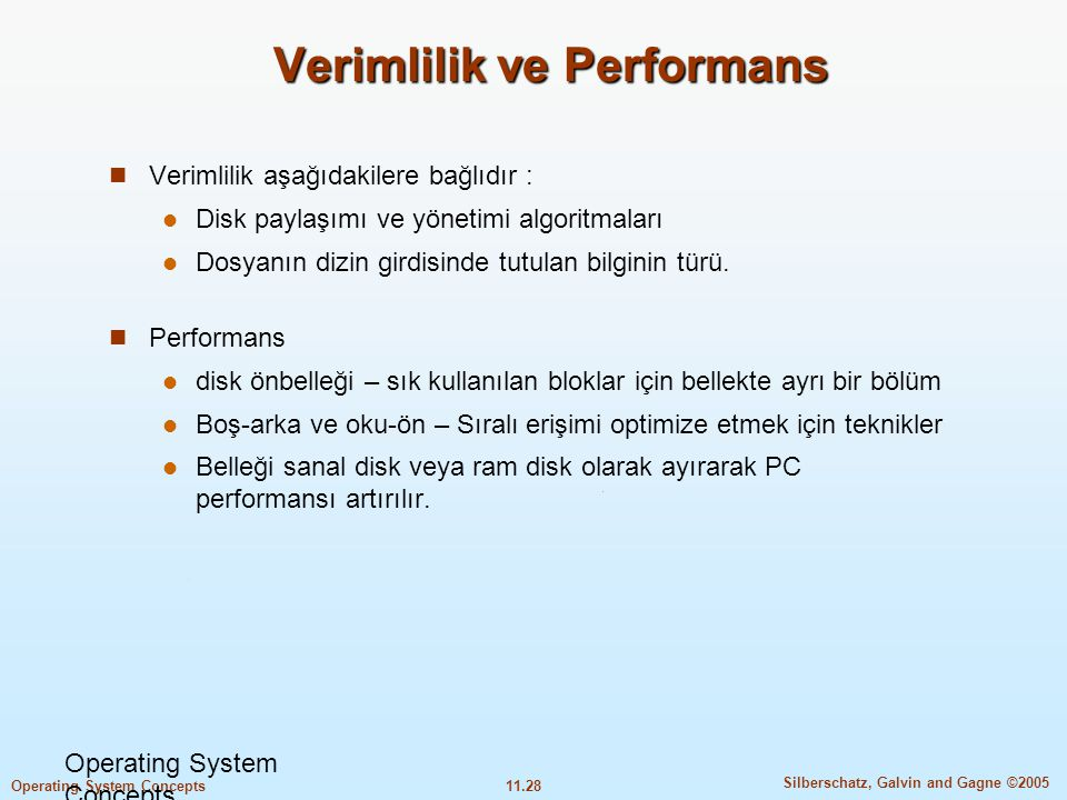 Verimlilik ve Performans