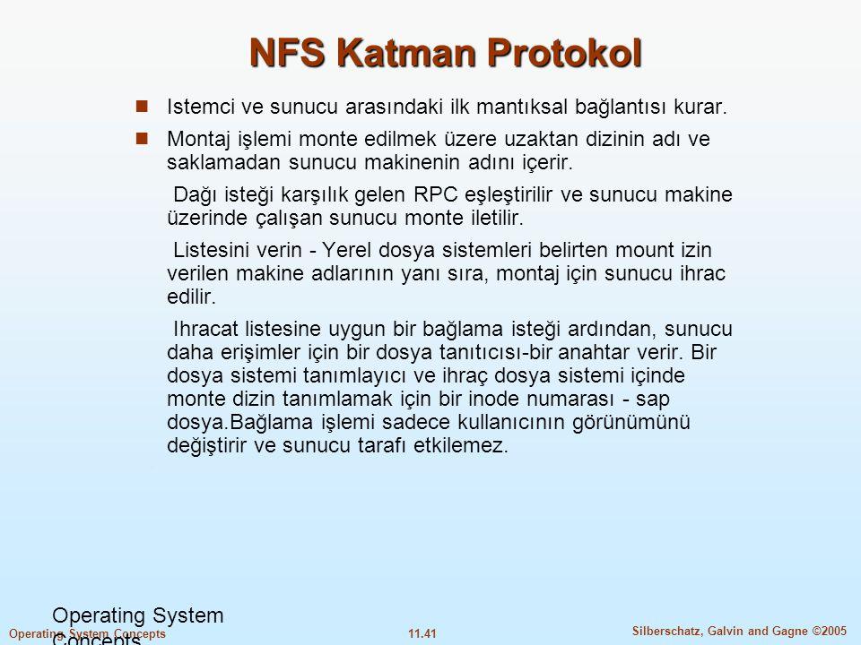 NFS Katman Protokol Istemci ve sunucu arasındaki ilk mantıksal bağlantısı kurar.