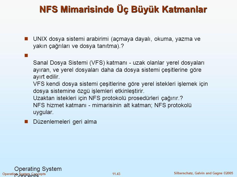 NFS Mimarisinde Üç Büyük Katmanlar