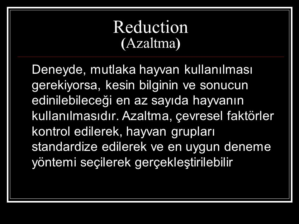 Reduction (Azaltma)
