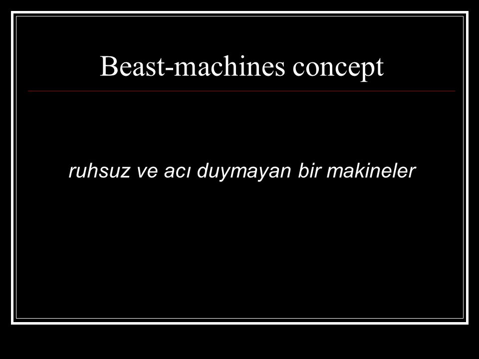 Beast-machines concept