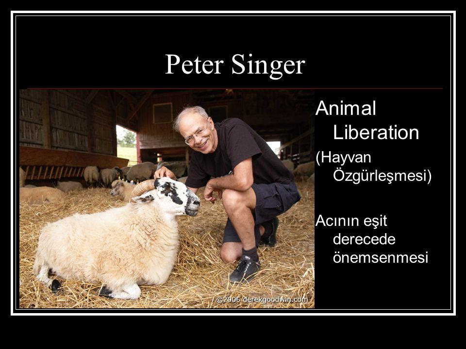 Peter Singer Animal Liberation (Hayvan Özgürleşmesi)