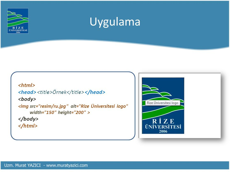Uygulama <html>