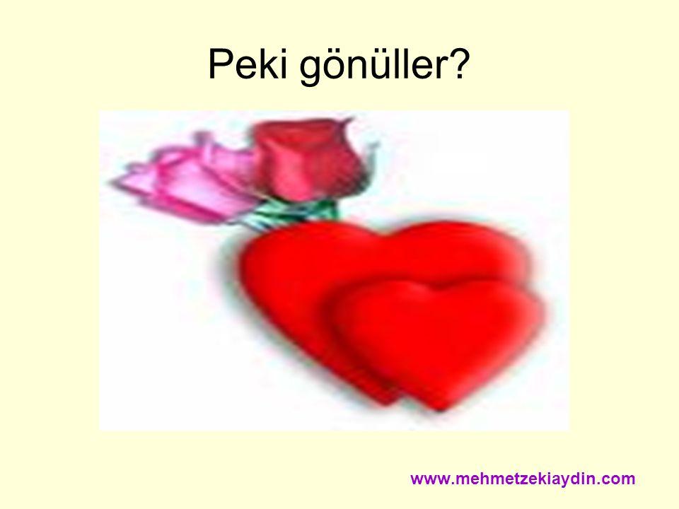 Peki gönüller www.mehmetzekiaydin.com