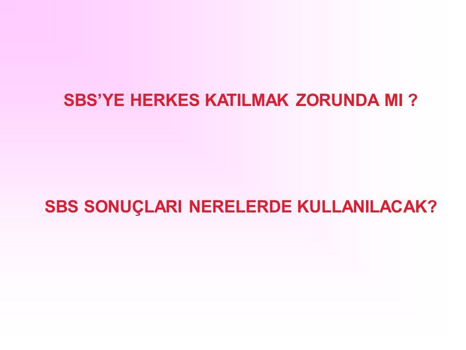 SBS'YE HERKES KATILMAK ZORUNDA MI