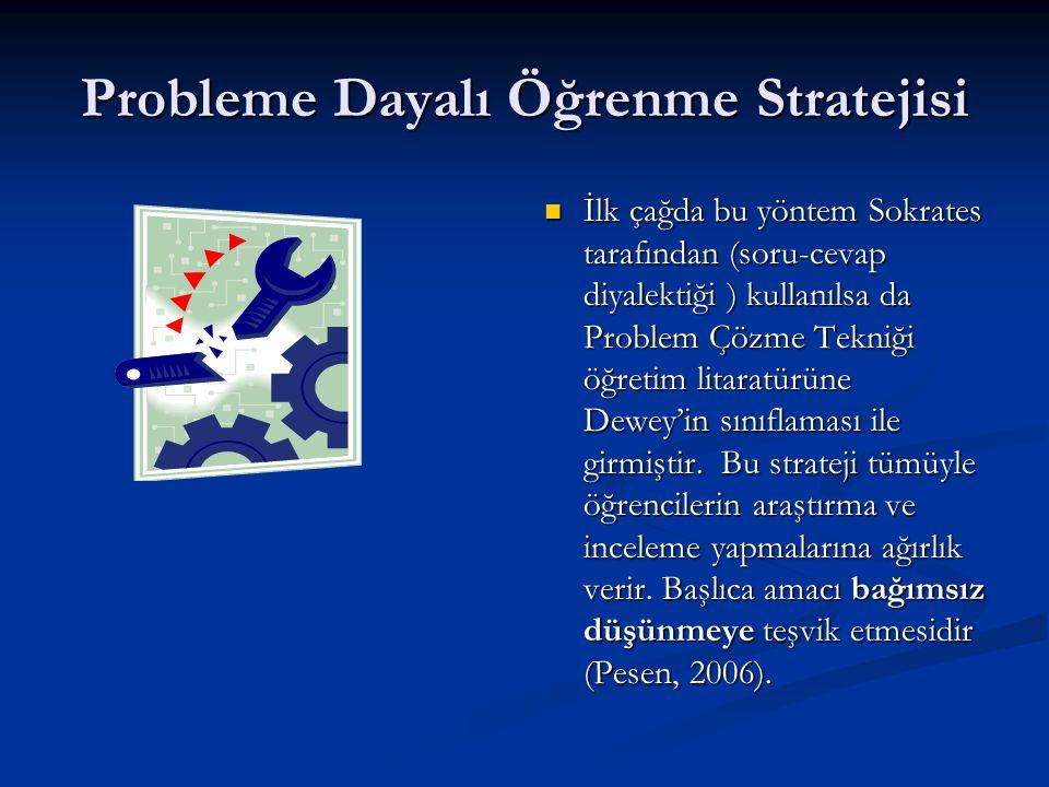 Probleme Dayalı Öğrenme Stratejisi