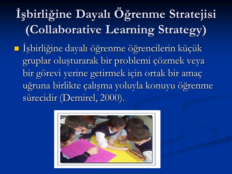 İşbirliğine Dayalı Öğrenme Stratejisi (Collaborative Learning Strategy)