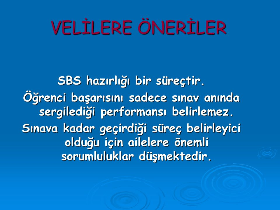SBS hazırlığı bir süreçtir.