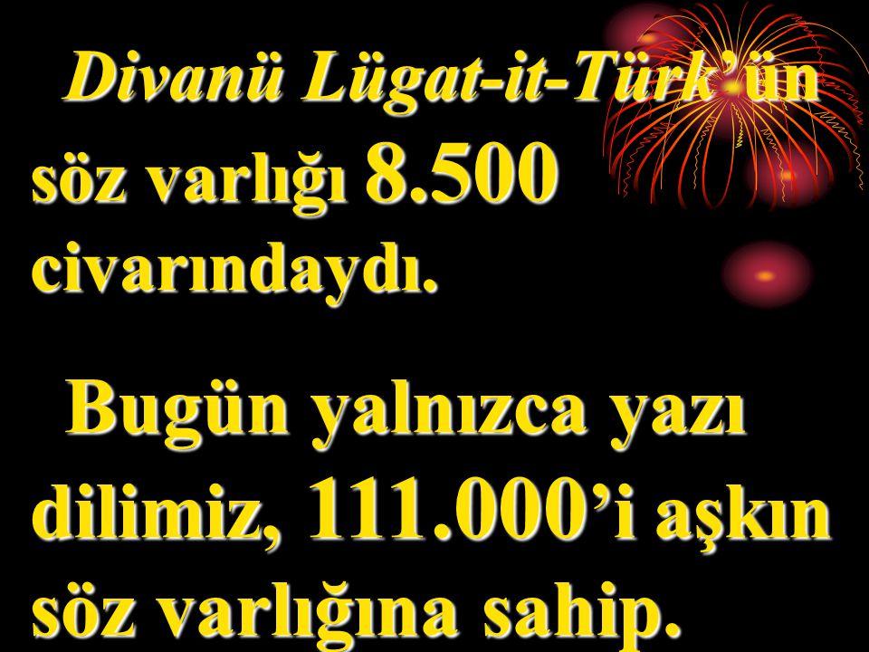 Bugün yalnızca yazı dilimiz, 111.000'i aşkın söz varlığına sahip.