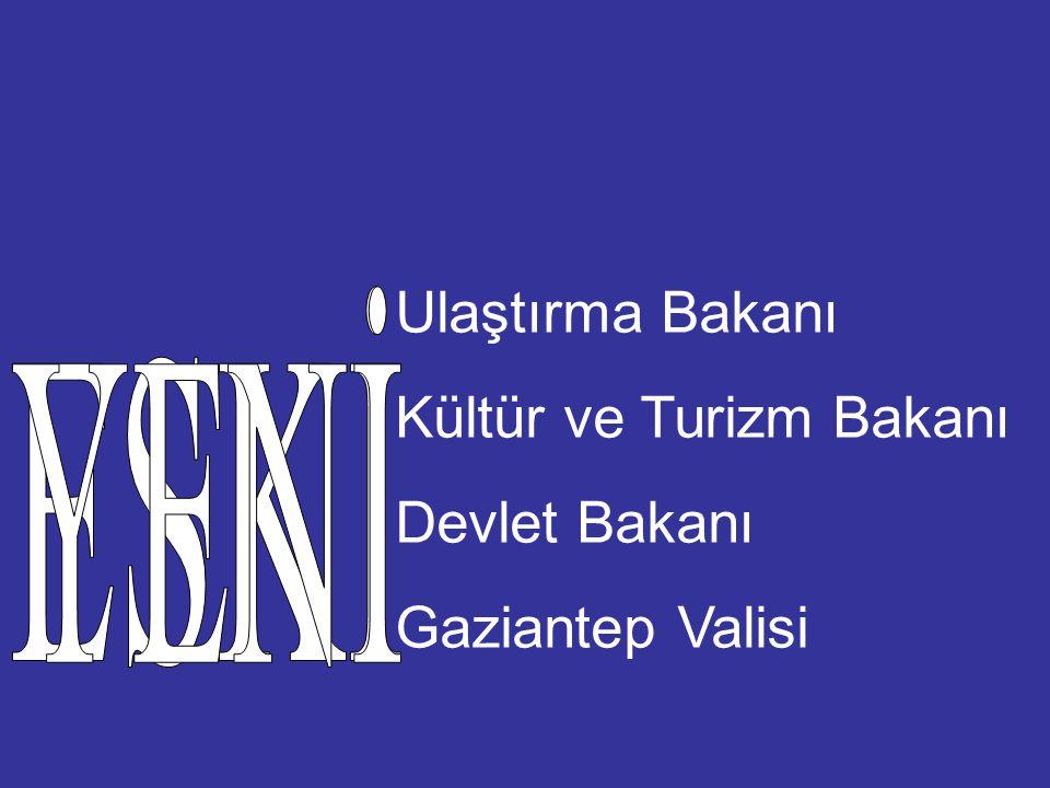Kültür ve Turizm Bakanı Devlet Bakanı Gaziantep Valisi