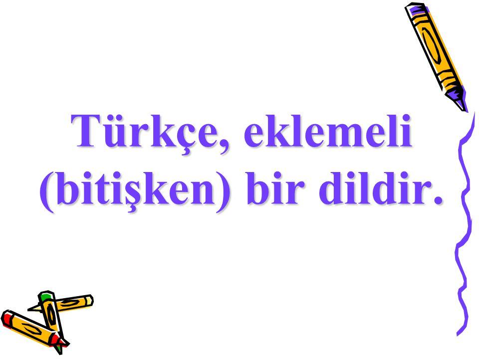 Türkçe, eklemeli (bitişken) bir dildir.