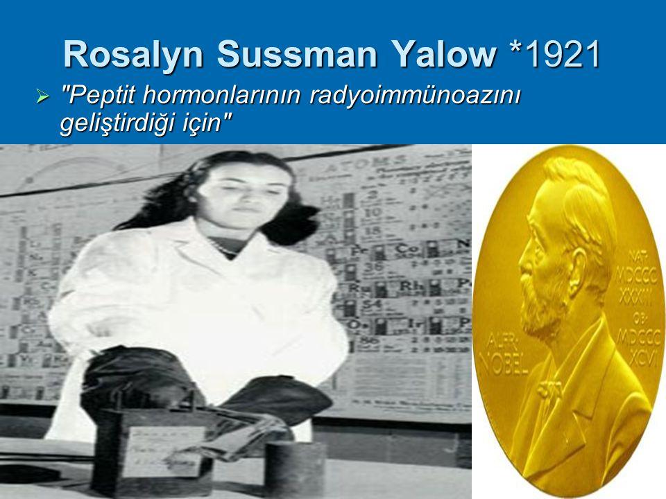 Rosalyn Sussman Yalow *1921